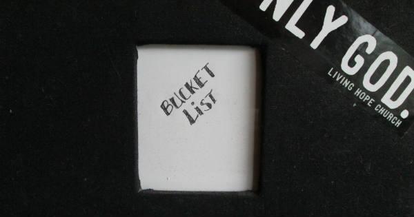 Bucket list book front
